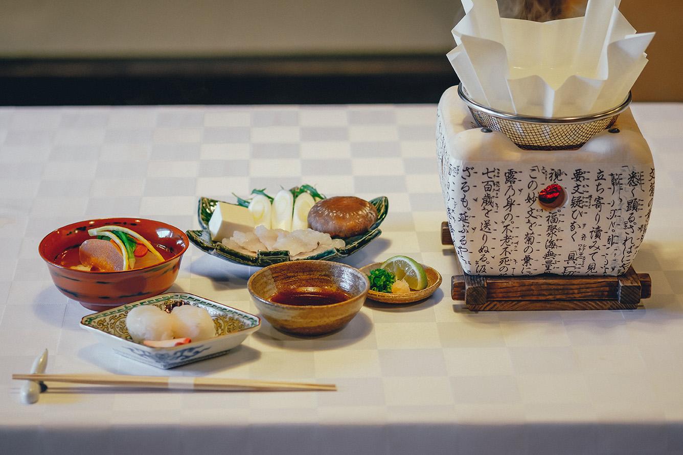 伝統の中津鱧料理