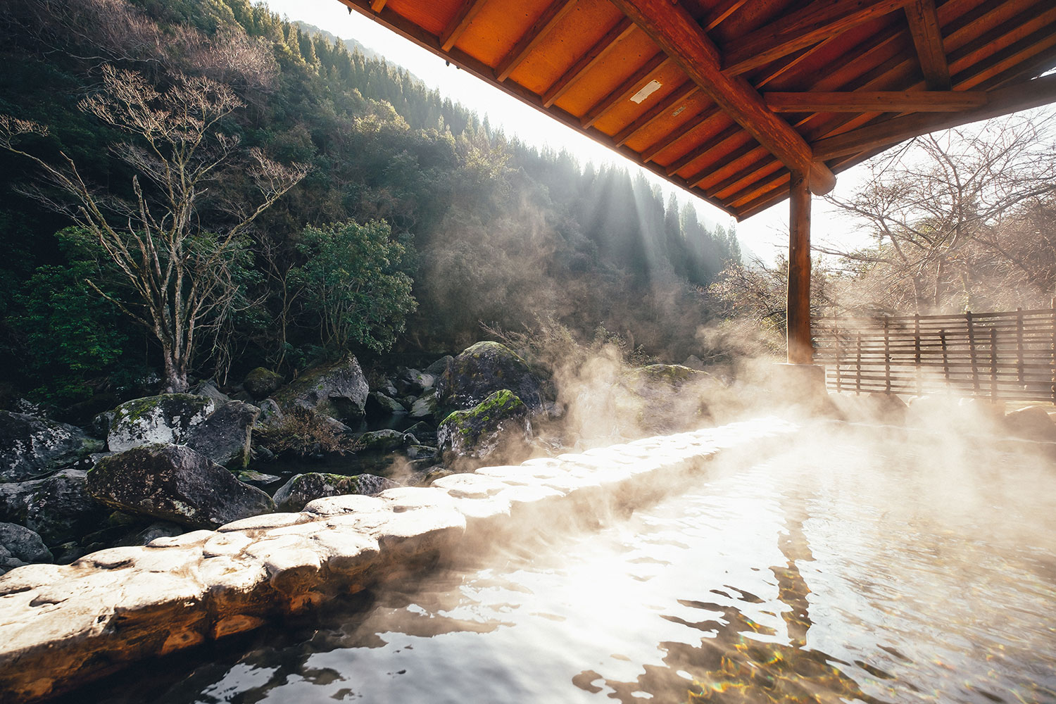Hot Spring in the Midst of a Mountain Stream