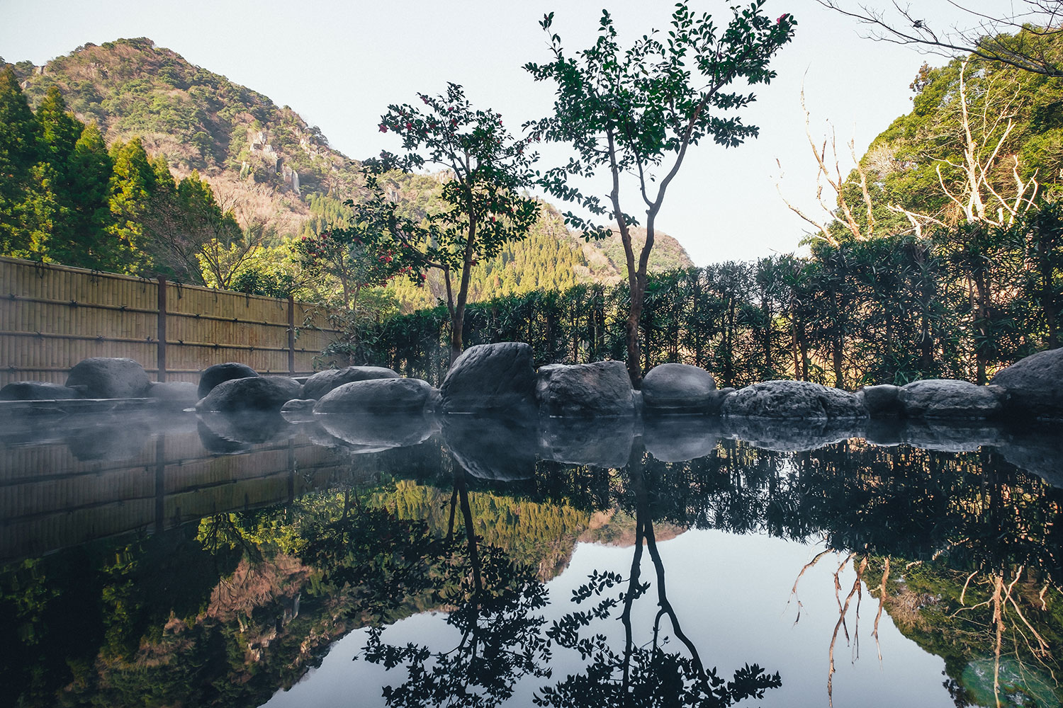 Open-Air Hot Spring Baths in the Shadow of Strangely Shaped Rock Formations